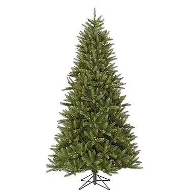 Vickerman Bradford 7.5' Green Pine Artificial Christmas Tree w/ 550 Dura-Lit Multi Lights w/ Stand