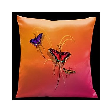 Lama Kasso Butterflies Throw Pillow