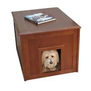 Crown Pet Products Doggie Den Cabinet Indoor Pet Crate; Mahogany