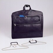 Winn International Napa Supple Cowhide Leather Garment Bag; Black