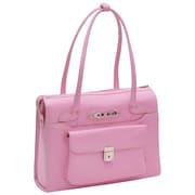 McKlein USA W Series Wenonah Leather Laptop Briefcase; Pink