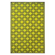 Fab Rugs Rheinsberg Sunny Lime World Indoor/Outdoor Area Rug; 4' x 6'