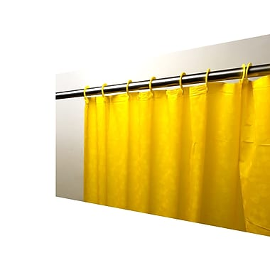 Carnation Home Fashions Peva Shower Curtain; Canary Yellow
