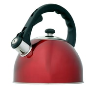 Creative Home Satin Splendor 2.8 Qt. Whistle Tea Kettle; Metallic Cranberry