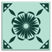 Oscar & Izzy Folksy Love 4-1/4'' x 4-1/4'' Glossy Decorative Tile in Gram's Kitchen Green