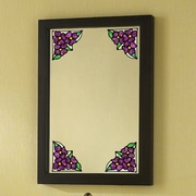 Brewster Home Fashions Pansy Corners Stained Glass Appliqu  Window Sticker; Amethyst
