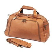Claire Chase 9'' Leather Carry-On Duffel; Saddle