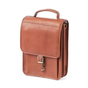 Claire Chase Mini Leather Laptop Briefcase; Saddle