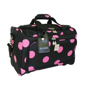 Jenni Chan Dots 18'' City Travel Duffel; Black Pink