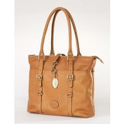Claire Chase Ladies Computer Tote Bag; Saddle