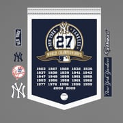 Fathead MLB New York Yankees World Series Championship Banner Wall Decal
