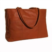 Clava Leather Colored Vachetta Luggage Tote Bag; Vachetta Tan
