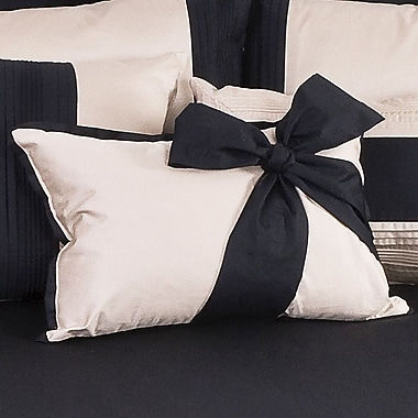 Charister Tux Solid Throw Pillow; Ivory