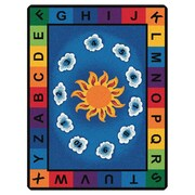 Carpets for Kids Literacy Sunny Day Learn and Play Kids Area Rug; Oval 6'9'' x 9'5''