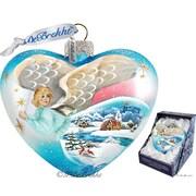 G Debrekht Angel Heart Ornament