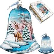 G Debrekht Winter Deer Bell Ornament