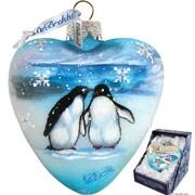 G Debrekht Penguins Pals Heart Ornament