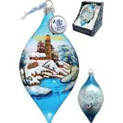 G Debrekht Winter House Led Ornament