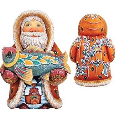 G Debrekht Derevo Native Santa w/ Fish