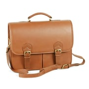Aston Leather Leather Laptop Briefcase; Tan
