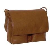Aston Leather Messenger Bag II; Tan