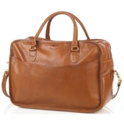 Aston Leather 18'' Leather Overnight Travel Duffel; Tan