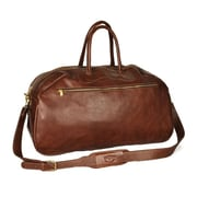 Aston Leather 24'' Leather Gym Bag; Brown