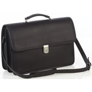 Aston Leather Leather Briefcase; Black