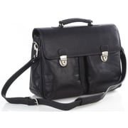 Aston Leather Single Compartment Leather Laptop Briefcase