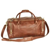 Aston Leather 22'' Leather Travel Duffel; Brown
