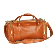 Aston Leather 22'' Leather Travel Duffel; Tan