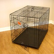 Majestic Pet Single Door Folding Pet Crate; Small (21'' H x 18'' W x 24'' L)