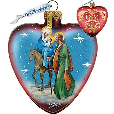 G Debrekht Nativity Heart Ornament
