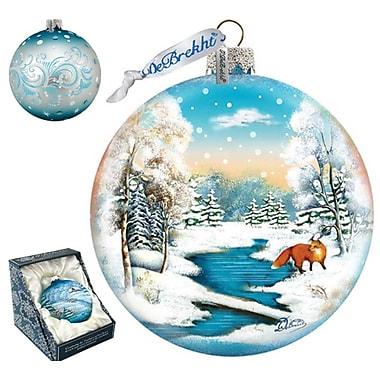 G Debrekht Winter Fox Ball Ornament