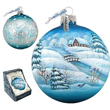 G Debrekht Winter Village Ball Ornament