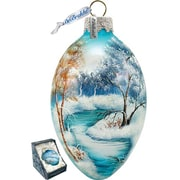 G Debrekht Winter Forest Egg Ornament