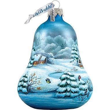 G Debrekht Winter Village Bell Ornament
