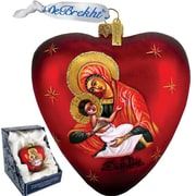 G Debrekht Mary and Jesus Heart Ornament