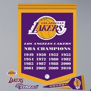 Fathead NBA Championship Banner Wall Decal; Los Angeles Lakers