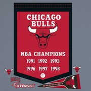 Fathead NBA Championship Banner Wall Decal; Chicago Bulls