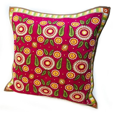 Rennie & Rose Design Group Susan Sargent Calico Accent Cotton Throw Pillow