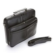 Royce Leather American Genuine Leather 17'' Laptop Slim Briefcase; Black