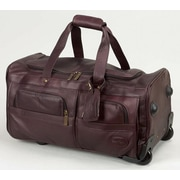Claire Chase Luggage 22'' 2-Wheeled Leather Travel Duffel; Caf
