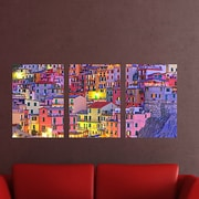 Brewster Home Fashions ''Euro Colorful Town'' 3 Piece Panoramic Wall Decal Set