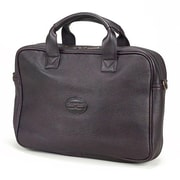 Claire Chase Small Business Leather Laptop Briefcase; Caf
