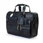 Claire Chase Slimline Executive Leather Briefcase; Black