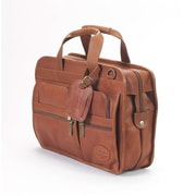 Claire Chase Slimline Executive Leather Briefcase; Caf