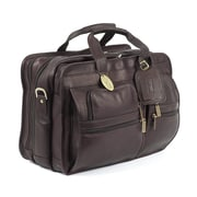 Claire Chase X-Wide Executive Leather Laptop Briefcase; Caf