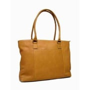 Le Donne Leather Women's Laptop Tote Bag; Tan