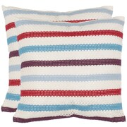 Safavieh Leslie Throw Pillow (Set of 2); Red